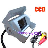 Wholesale Sharp View Camera - 18 LED IR 1 4 Sharp CCD Car rear view Reversing Camera Waterproof + 10m Video Cable White 10pcs lot