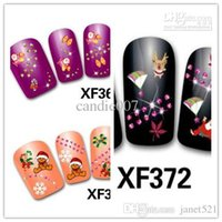 Wholesale Nail Art Tatoo - TrendyChristmas nail stickers nail art nail tips nail accessories nail tatoo nail painting nail printing