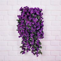 Wholesale Morning Glory Mix - wholesale 2015 aritificial real touch silk flower 6 color mix Morning glory flower hang basket weeding home decoration