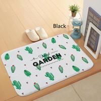 ingrosso tappeto verde chiaro-Stuoie sottili della luce della flanella di 40 * 60cm piante verdi modello di cactus tappeti muti-scopo soggiorno cucina camera da letto tappeti