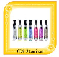 Wholesale Ego Removable - CE4 Atomizer Cartomizer Clearomizer 8 colors non-removable no wick Heavy vapor no leaking for ego series shipped via fast DHL