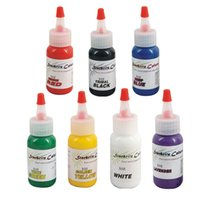 tattoo-tinten 1oz set großhandel-7pcs Tattoo Permanent Make-up Kit Tattoo Ink Set 30ml 1OZ Farben