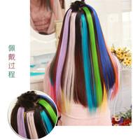 extensions de cheveux populaires achat en gros de-Meilleures ventes agrafe colorée populaire de produits de cheveux colorés sur des prolongements de cheveux 24