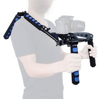Freeshipping Foldable DSLR Shoulder Rig Set 107D Movie Kit Câmera Shoulder Support Mount System para câmeras DSLR Video Camcorders