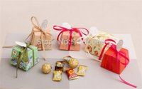Wholesale Trapezoidal Box - 500pcs lot Wedding Candy Boxes Gift Boxes Beige Trapezoidal Favors Boxes