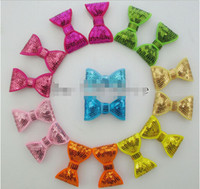 Wholesale Appliques For Hair - New Style 2'' Sequin Bows For DIY Headbands,Baby Girls Knot Applique Sequin bow WITH Clips,Hair Accessories 120pcs