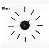 Wholesale Clock Movement Kit Free Shipping - Black Quartz Wall Clock Movement Mechanism 3 White Hands DIY Repair Parts Kit Free Shipping, dandys