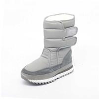 cuña impermeable botas de invierno mujer al por mayor-Botas para la nieve de las mujeres de la moda de invierno al aire libre 8 colores cálidos botas de cuña impermeables de algodón en línea zapatos de invierno