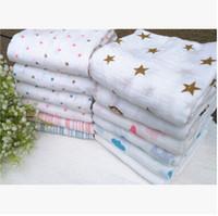Wholesale Wholesale Aden Anais - 120*120cm Aden + Anais Muslin Swaddle Blanket Newborn Baby Bath Towel Aden And Anais Swaddle Blankets Functions Baby Swaddle Blanket 1048
