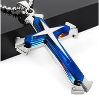 ingrosso pezzi di gesù-Moda Gesù Pezzo Croce pendente Christian gioielli placcato Croce collana in acciaio inox Collana Uomo Donna gioielli