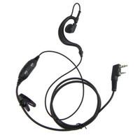 kenwood auricular walkie talkie al por mayor-VOX Auricular para KENWOOD WOUXUN QANSHENG PUXING BFUV5R H555 H777 TYT 2-WAY Radio walkie talkie NUEVO C0137A Alishow