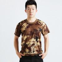 camisa de camo tático venda por atacado-Atacado-Homens Mulheres Verão Camo Tático Do Exército T-Shirt T Shirt Tops Vestuário Elegante