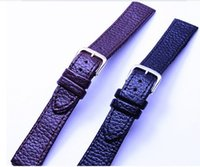 Wholesale 12mm Watch Band - Wholesale-Wholesale 50PCS lots High quality (12MM-14MM-16MM-18MM-20MM-22MM ) 100% genuine leather Watch strap watch bands 14083