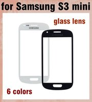 Wholesale S3 Mini Front Cover - Touch Screen Glass Lens Screen Protector For Samsung Galaxy S3 Mini i8190 Replacement Front Screen Display Glass Cover 6 Colors SNP012