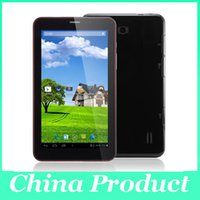 Wholesale 7inch Tablet Screens - 7Inch Phablet PC android 4.4 Dual Core 3G Tablet PC MTK8312 1.2GHz phone call Wifi Capacitive Screen Free 002363