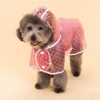 Puppy Pet Dog Cool Raincoat Hoodied Waterproof Rain Lovely Jackets Одежда для дождя Одежда для одежды