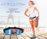 Wholesale Reflective Arm Bands - Waterproof Sport Running Waist Belt pouch Reflective stripe Bag Gym Arm band Pack iphone 6 6plus inch Hanging Elastic Adjustable Waistband
