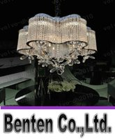 Wholesale Crystal Chandeliers Lamp Shade - llfa134 Free shipping LED Crystal Light Chandelier Restaurant plum shade lamp bedroom lamp art butterfly petals Crystal Ceiling