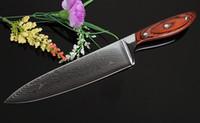 "Wholesale Kitchen Knife Universal - Highquality 8"" Professional Damascus steel Kitchen Knives 8 inch chef knife Utility knife Japanese VG10 kitchen knife Universal"