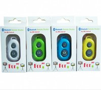 Wholesale Sale S4 - Popular Bluetooth Remote Camera Control Self-timer Shutter for iPhone 5S 5C 5 4S for Galaxy S5 S4 Note 3 Remote Shutter Factory Sale