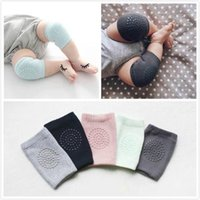 Wholesale Toddlers Skid Socks - New Design Cotton Fashion Baby Crawling Socks Environmentally Friendly Plastic Anti-skid Children Knee Pad Toddler Clothing