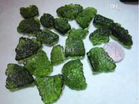 Wholesale Energy Necklace Stones - Wholesale-Natural crystal pendant moldavite nunatak with shaped pendant luo dan pendant energy stone 5g lot