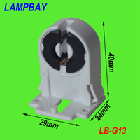 Wholesale Plastic Lamp Pieces - (100 pieces lot) Free Shipping G13 holder two pins tombstone T8 lamp bases