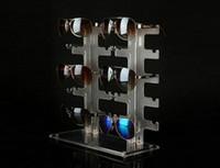 shows gratuitos venda por atacado-Óculos de sol rack de óculos de sol mostrando stand plástico óculos de exibição rack de exibição de prateleira de plástico frete grátis
