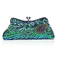 National Paillette Embroidery Clutch Bags Handmake Designer Peacock Evening Bags Bolsas de noiva de casamento Malas de bolsa Qipao Dress Bag