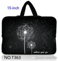 "Wholesale Neoprene Netbook Bag Sleeve - Stylish Dandelion 15.5"" 15.6"" Laptop PC Netbook Neoprene Soft Sleeve Bag Case Cover+ Handle"