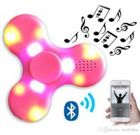 Wholesale Good Seal - colorful led light fidget bluetooth spinners fidget spinner with good quality Bluetooth4.0 speaker for Mini Bluetooth Speaker