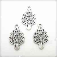metal tavuskuşu cazibesi toptan satış-100 adet Vintage Charms Peacock Kolye Antik gümüş Fit Bilezikler Kolye DIY Metal Takı Yapımı