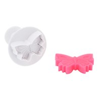 Wholesale Butterfly Chocolate Cake - 3Pcs Mini Cake Mold Spring Baking Mold Anself Butterfly Fondant Cake Biscuit Cookie Chocolate Jelly Decorating Embossing Cutter