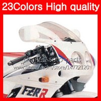 Wholesale Yamaha Fzr - 23Colors Motorcycle Windscreen For YAMAHA FZR250R 86 87 88 89 FZR250 R 250 R FZR 250R 1986 1987 1988 89 Chrome Black Clear Smoke Windshield