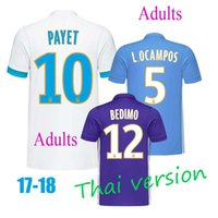 Wholesale Racing Jerseys - Free home delivery, the best Thai version quality, 17 18 marseille soccer jersey, white and blue purple racing jersey for sale, marseille cl