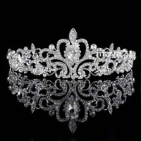 Wholesale Elegant Rhinestone Headbands - Wedding Hair Accessories Vintage Tiaras Bridal Headbands Crystal Crowns Comb Elegant Formal Bridal Headwear Porm Tiaras Quinceanera Tiaras