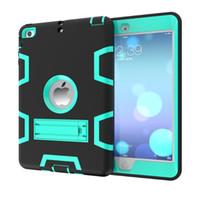 противоударная кожа силиконовой таблетки оптовых-Роскошный гибридный сверхмощный силиконовый резиновый планшет жесткий чехол для iPad Mini 1 2 3 Противоударный защитный чехол кожи