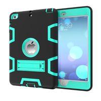 capa protetora rígida mini ipad venda por atacado-Luxo híbrido Heavy Duty de borracha de silicone Tablet Hard Case capa para iPad Mini 1 2 3 à prova de choque casos pele