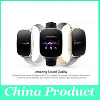 """Wholesale Genuine English - Original Zeblaze Crystal Curved 1.54"""" IPS 3D screen Smart Watch MTK2502 Real Heart rate Bluetooth 4.0 Genuine Leather Strap 010246"""