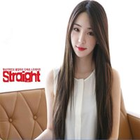 Wholesale Online Cheap Lace Front - cheap wigs online 3 Color 70cm wig synthetic lace front wig heat resistant straight long black   brown female korean fashion wig