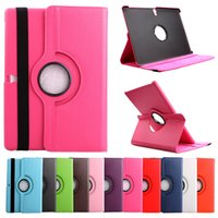 Wholesale Cover For Galaxy Tab3 - 360 Degree Rotating Flip PU Leather Cover Stand Case For Samsung Galaxy Tab A T350 T550 S T800 T700 Tab4 T530 T230 P3200 T110 P600