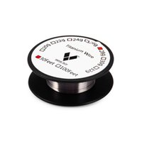 resistencia de la bobina de titanio al por mayor-Vapor Tech Titanio Cable Control de temperatura Mod Resistencia Titanio Cable de calefacción 30 pies 26G 28G 30G para DIY RDA RBA Atomizador por bobinas