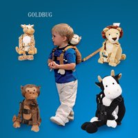 porte-bébé 9kg achat en gros de-Vente chaude Goldbug 2 EN 1 Harnais Buddy Bébé Anti-perdu Strap Carrier Sacs à dos Sac 16 Kinds Design Disponible Livraison Gratuite