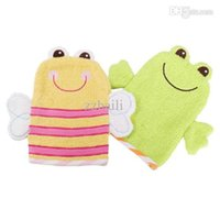 Wholesale Baby Bath Mitts - Wholesale-Luvable Friends 100%Cotton New Children Bath Zoo Mitt Sets Cute Glove Shape Baby Bath Animal Terry Super-Soft Baby Wash Mitt