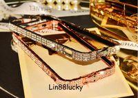 Wholesale Iphone 5s Diamond Bumper - Snake Diamond Inlay Metal rhinestone i6 Bumper bling bumper Frame case cover for iphone 6 Plus 6 5 5s