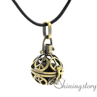 Wholesale Silver Peace Signs - peace sign openwork essential oil jewelry wholesale diffuser lockets aromatherapy inhaler essential oil necklaces lava volcanic stone metal