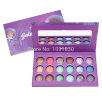 Wholesale Galaxy Chic Palette - Wholesale-New Arrived Brand Makeup Galaxy Chic 18 Color Starry Sky Baked Eyeshadow Palette free shipping