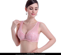Wholesale Lace Straps For Bras - Plus size 75-100 C D E large cup bra big size bra sexy lace full cup intimate brassiere thin bra for woman