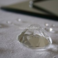 Wholesale Diamond Place Card Holder Wedding - 50pcs LOT Wedding Table Decoration DIAMOND Crystal Place Card Holder Event Party Supplies