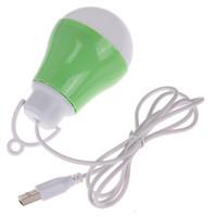 Wholesale pc globe bulb resale online - 100PCS V Portable MINI USB LED Bulb Light Line Extendible Hide For Computer Laptop PC Desk Night Reading Room Lamp